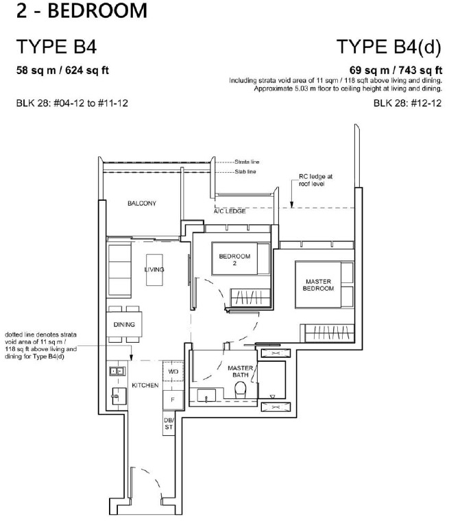 Haus on Handy 2br floor plan
